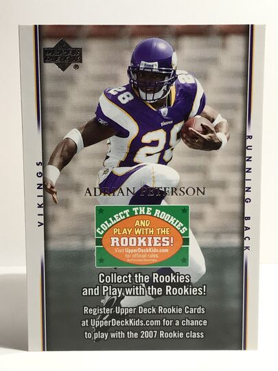 2007 Adrian Peterson Upper Deck Collect The Rookies
