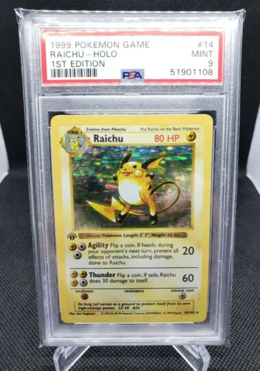 Pokemon 1st Edition Base Raichu
