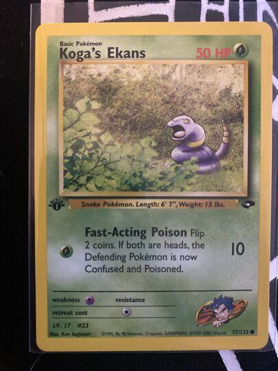 koga's ekans 77/132 1st edition