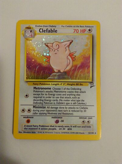 clefable holo 5/130