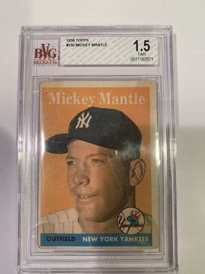 1958 topps mantle