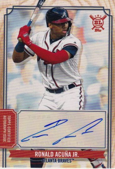2019 Topps Big League Ronald Acuna Jr. Auto