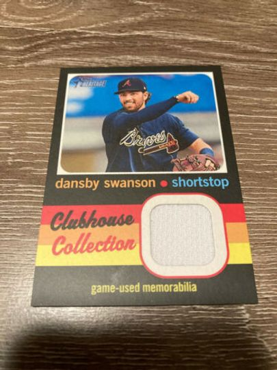 Swanson, Dansby 2020 Topps Heritage High Number Clubhouse