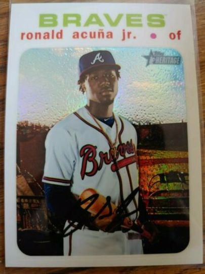 Acuna, Ronald 2020 Topps Heritage White Chrome