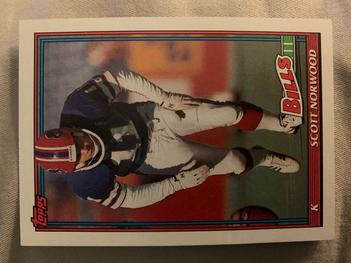 1991 Topps Scott Norwood 40
