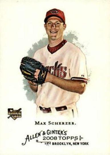 2008 Topps Allen & Ginter Max Scherzer Rookie Card #297