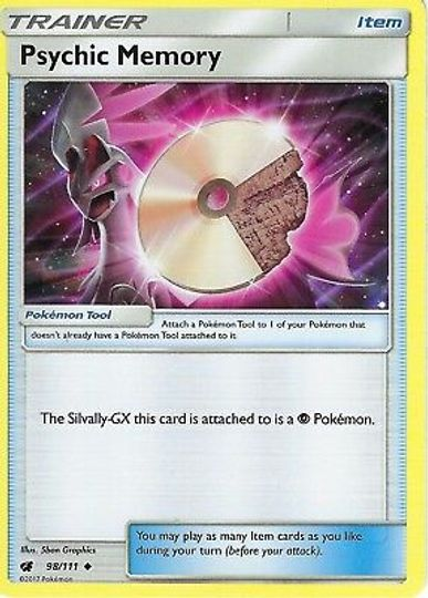Psychic Memory 98/111 Trainer Card