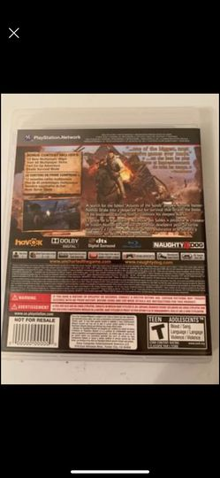 uncharted 3 PlayStation 3 game