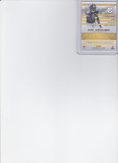 DRI ARCHER JERSEY CARD