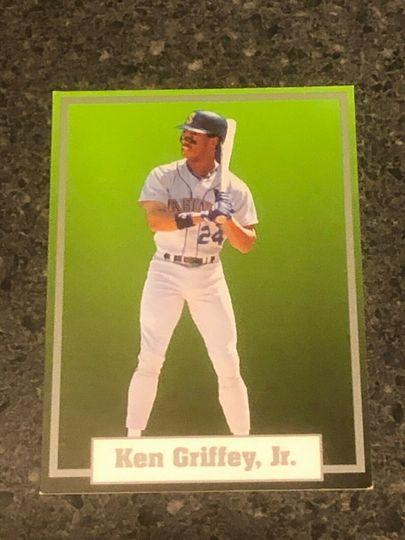 1990 ken griffey jr super star elite green