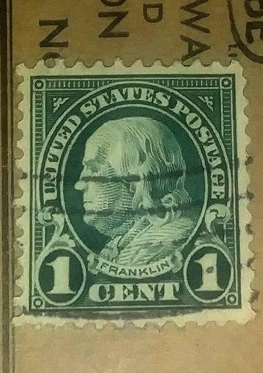1cent franklin stamp