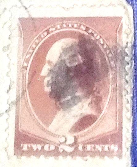 brown 2 cent washington stamps