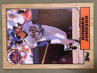 1987 topps 267 howard johnson
