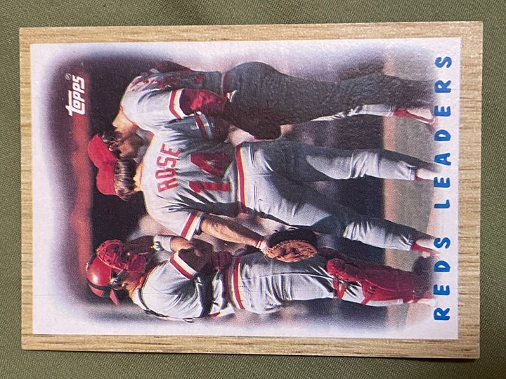1987 topps 281 reds leaders
