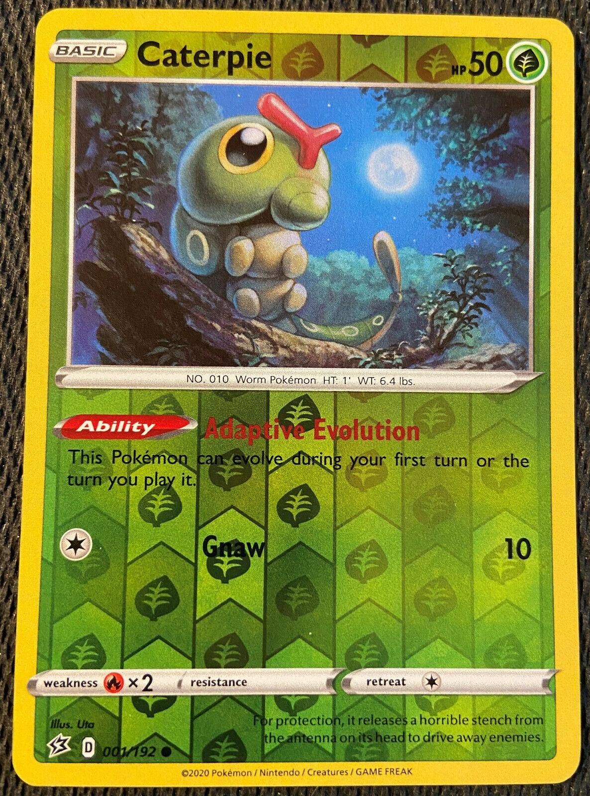 Rebel Clash  Reverse Holo  Mint//NM Pokemon Caterpie  1//192 S/&S