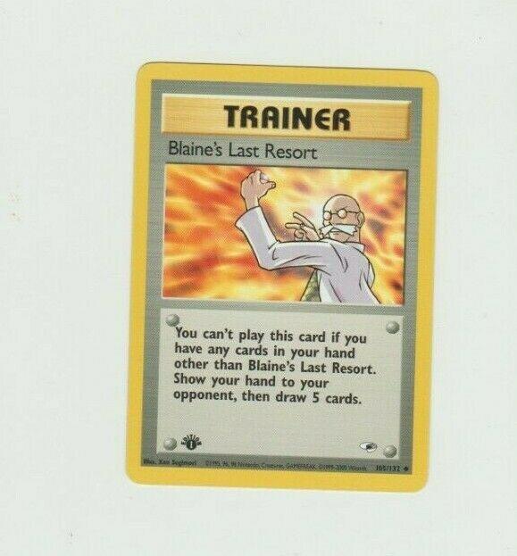 Blaine/'s Last Resort 105//132 Trainer Gym Heroes Pokemon Card