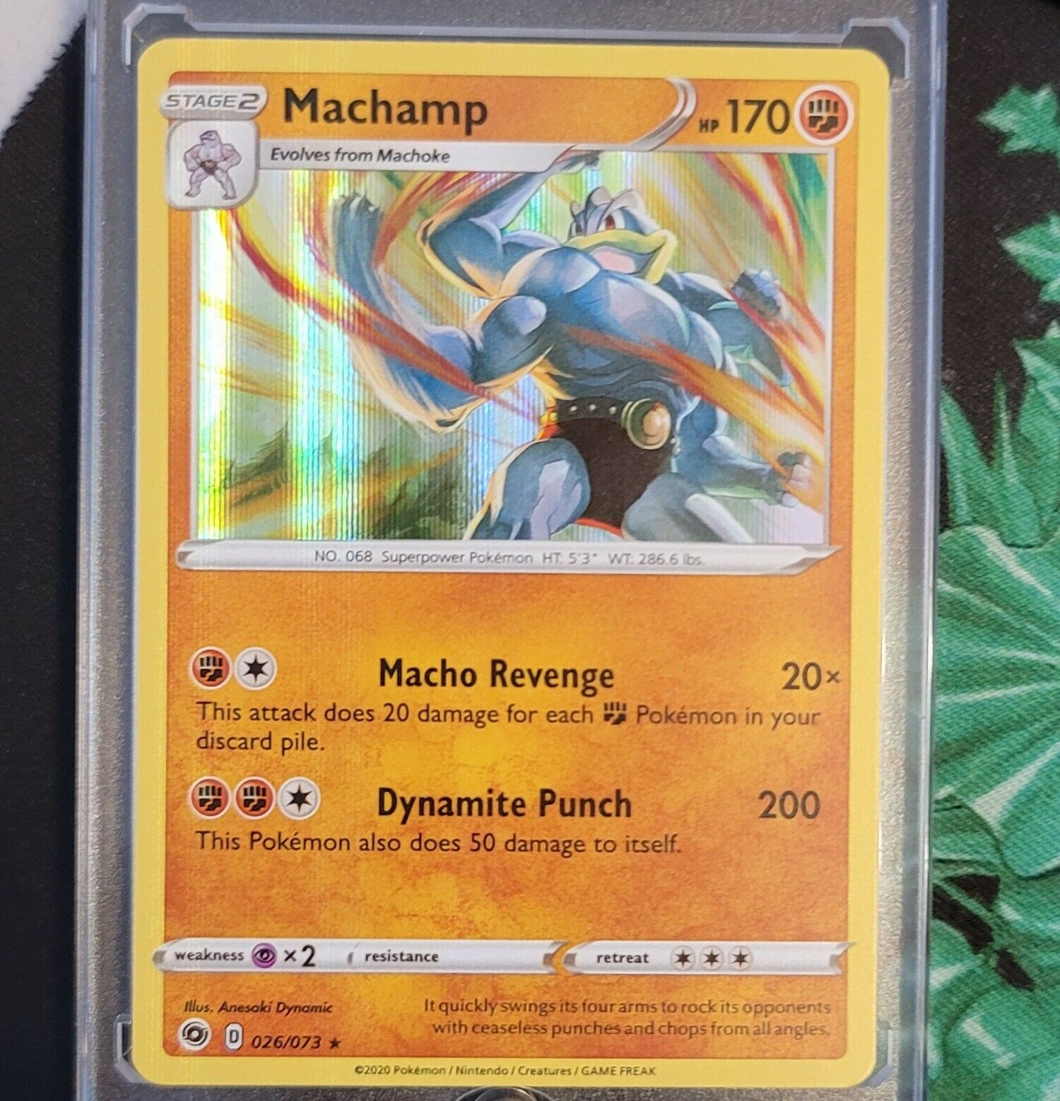 POKEMON CHAMPION/'S PATH MACHAMP 026//073 HOLO RARE NM-M LOT#95