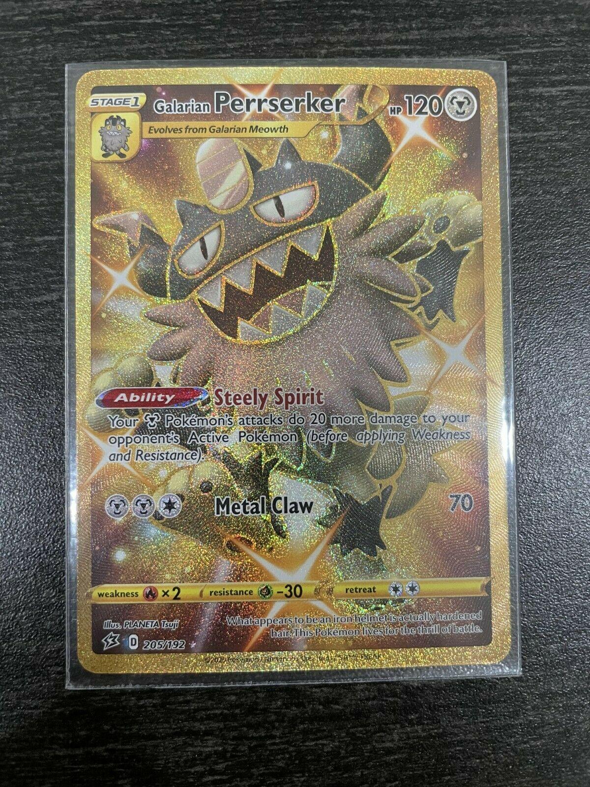 Pokemon PTCGO Galarian Perrserker 205//192 SR Online Card Sent Fast In-Game