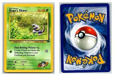 Details about  /Pokemon Gym Challenge KOGA'S EKANS 77//132 Common