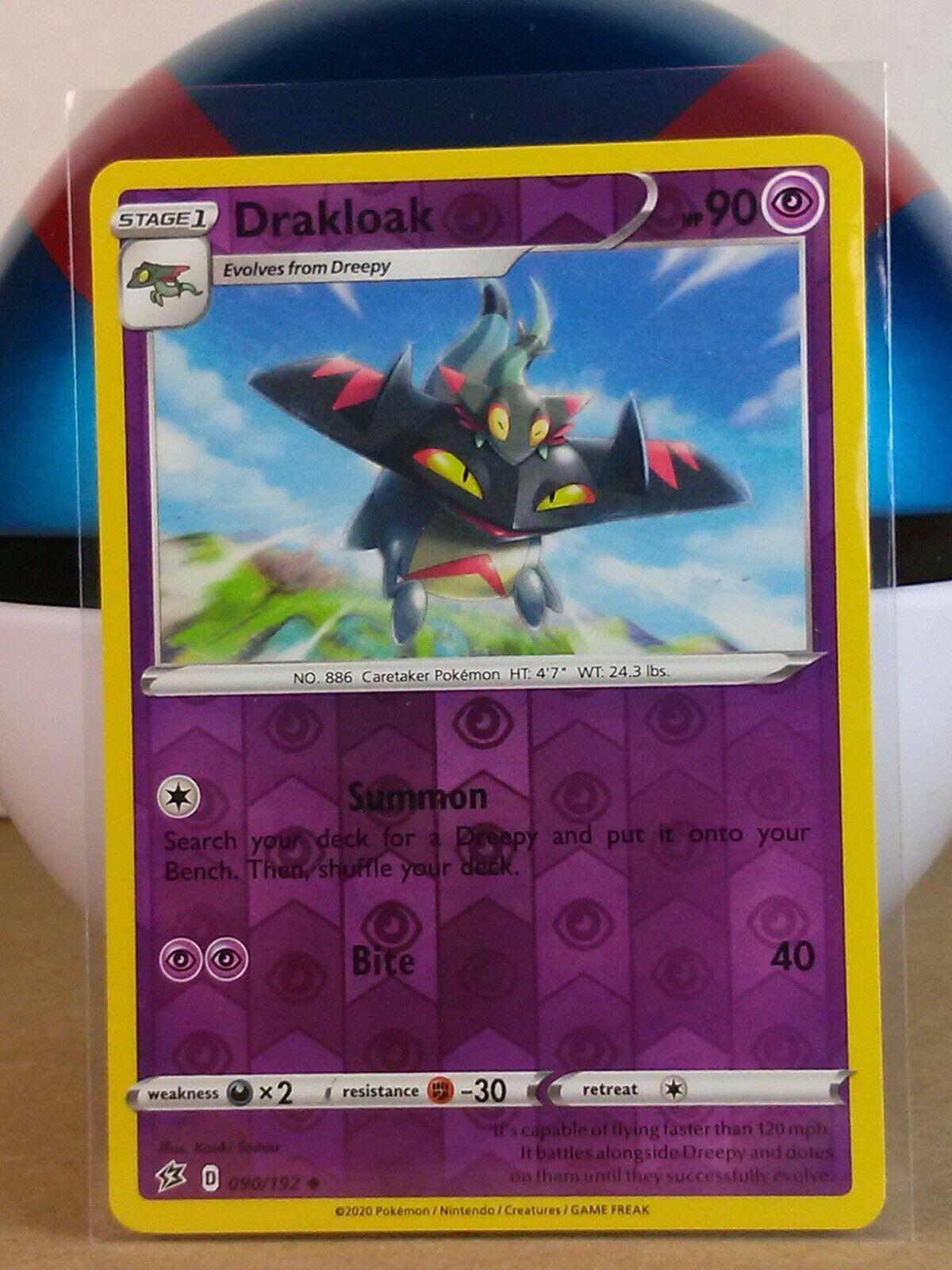 Pokemon Cards 4x Drakloak 090//192 Playset Rebel Clash NM//M