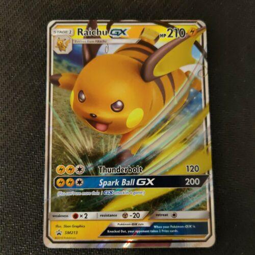Raichu GX SM213 Hidden Fates Black Star Promo Ultra Rare Pokemon Card NM//M