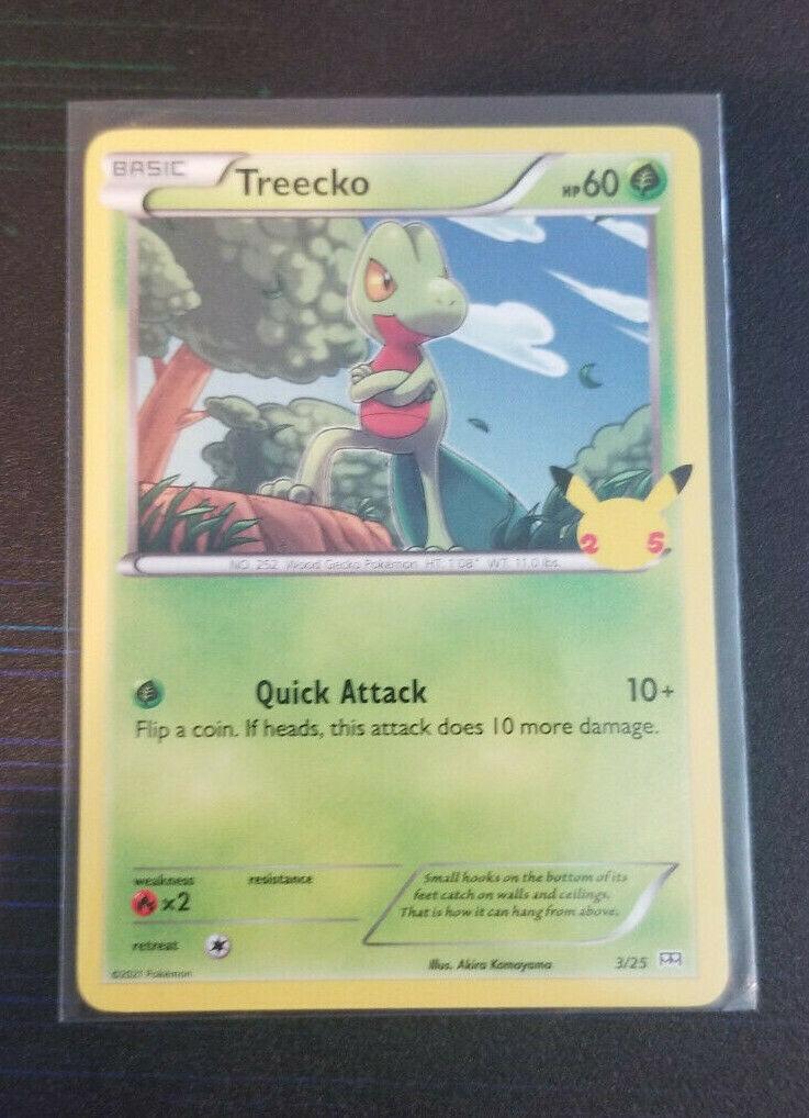 Treecko 3/25 - 25th Anniversary - Non Holo - McDonald's Pokemon Card - NM+