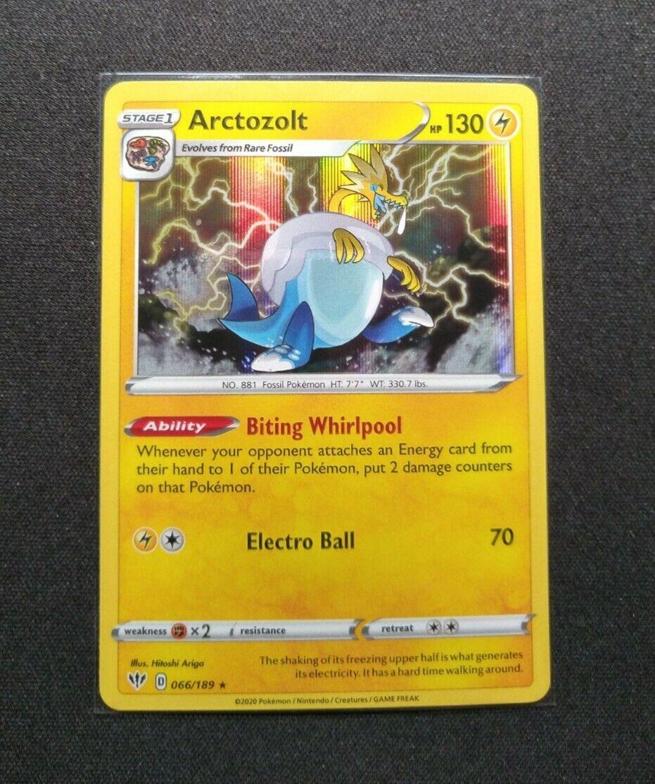 ARCTOZOLT HOLO RARE Pokemon Darkness Ablaze 066//189 *MINT*