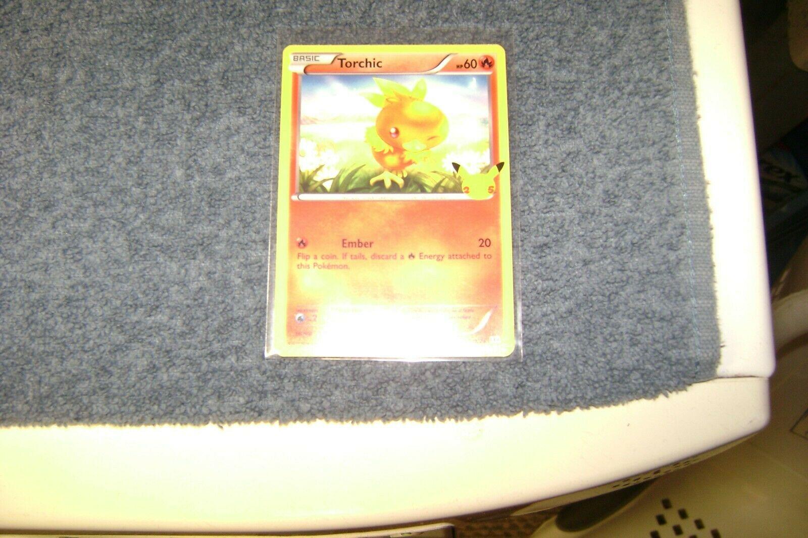 Pokemon TORCHIC 25th Anniversary McDonald's 11/25 NON-HOLO Promo Card MINT