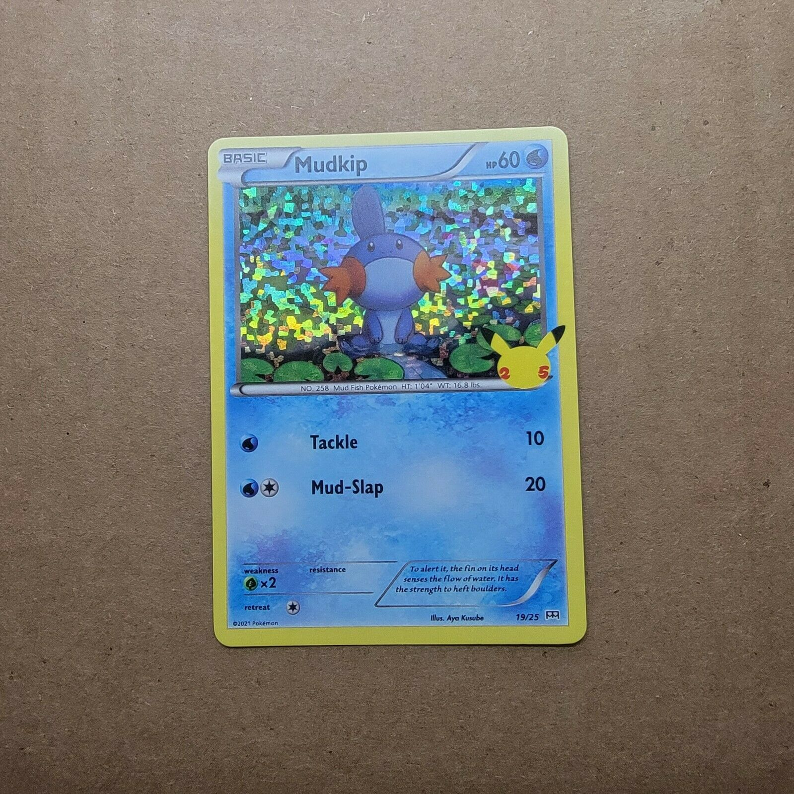 McDonald's 25th Anniversary Pokemon Holographic Mudkip Card Promo 2021 19/25