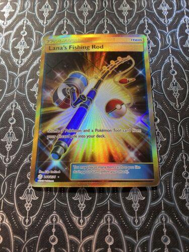 Lana's Fishing Rod 266/236 Full Art Secret Rare Holo Foil Pokemon Cosmic Eclipse - Image 1