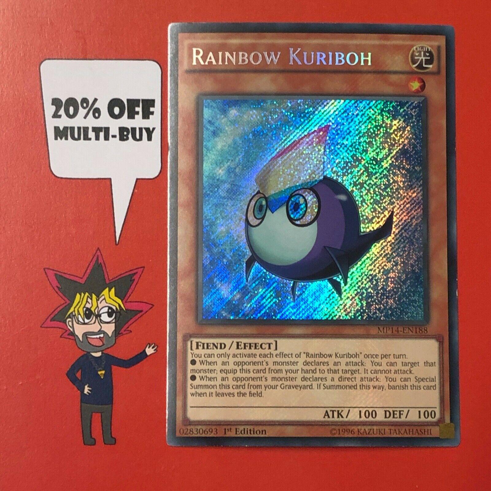 Secret Rare MP14-EN188 1st Edition Rainbow Kuriboh Yugioh