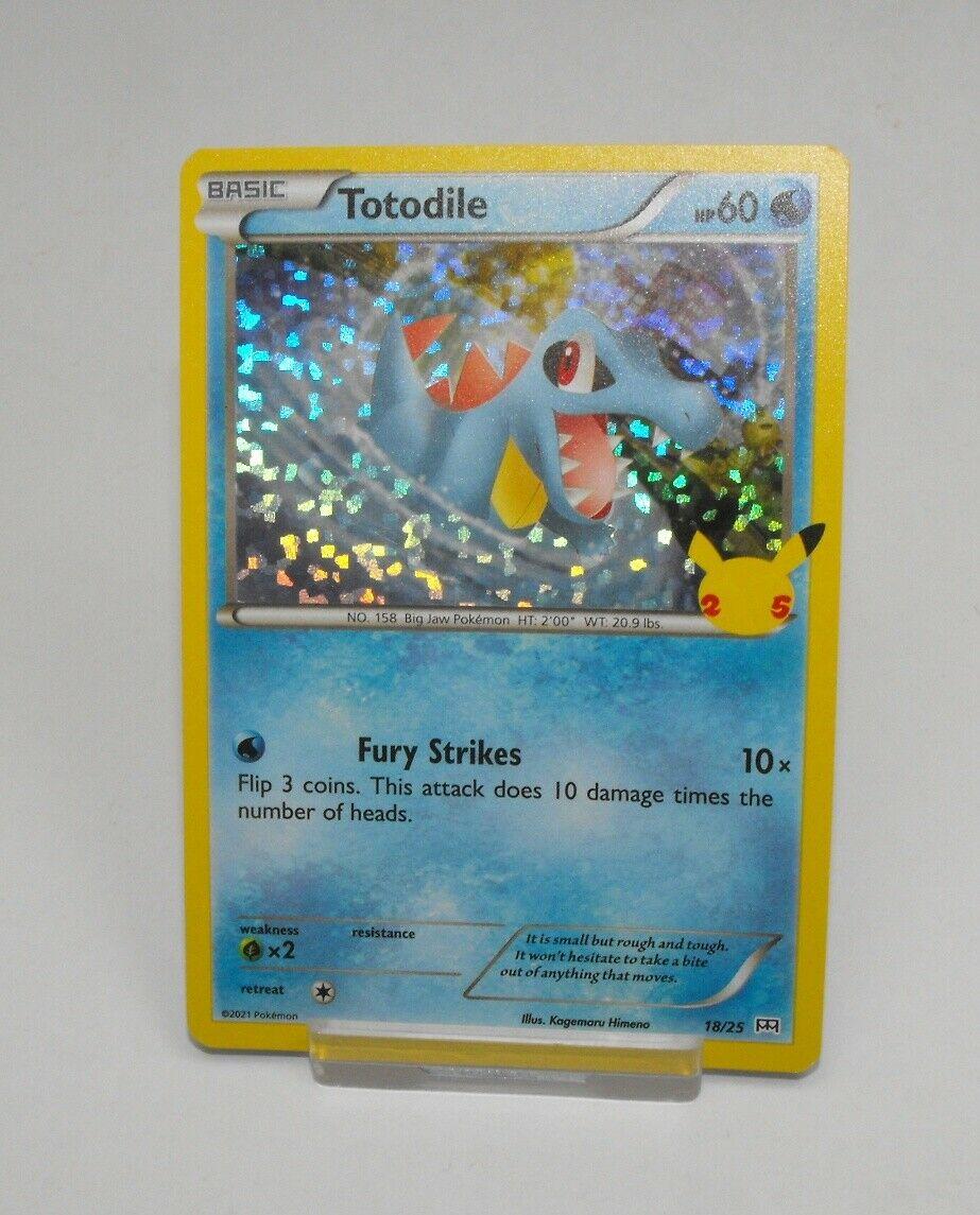 2021 McDonald's Pokemon 25th Anniversary 25 Holo Card 18/25 Totodile