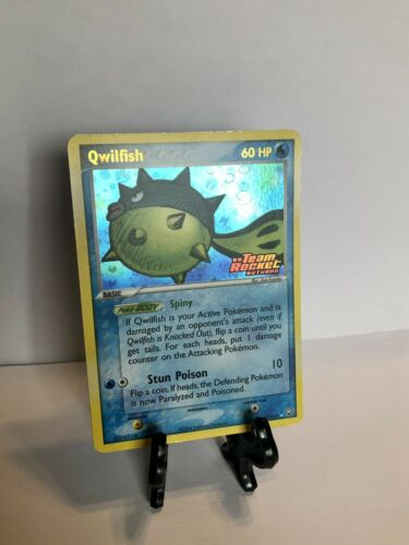 Qwilfish - 27/109 - Rare Reverse Holo Ex Team Rocket Returns Stamped - Image 1
