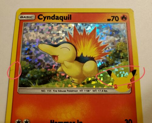Pokemon McDonald's 25th Anniversary Cyndaquil Holo 10/25 (Moderately Played) #1 - Image 4