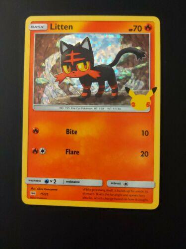 Litten 15/25 25th Anniversary Mcdonald's Pokemon Promo Holo NM Pokemon TCG