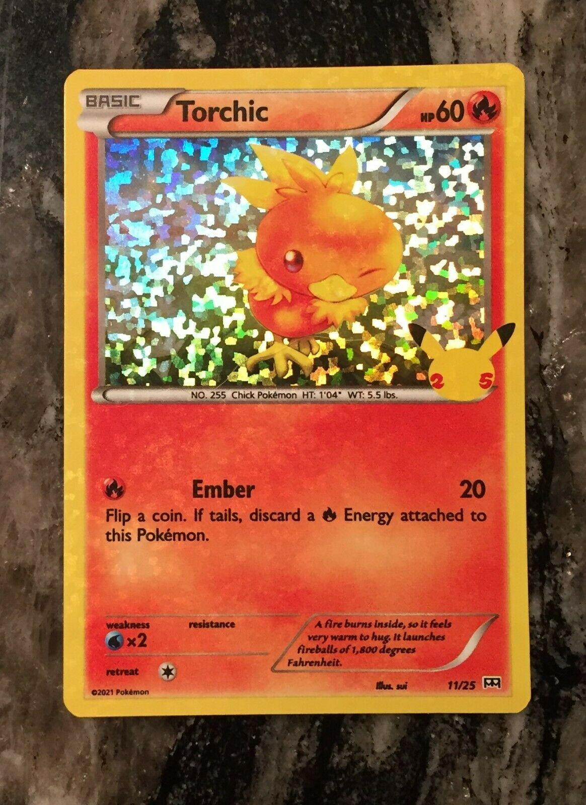 Pokemon Torchic HOLO 2021 McDonald's 25th Anniversary Card11/25