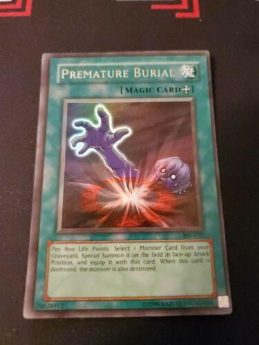 YuGiOh Card Premature Burial SD3-EN018