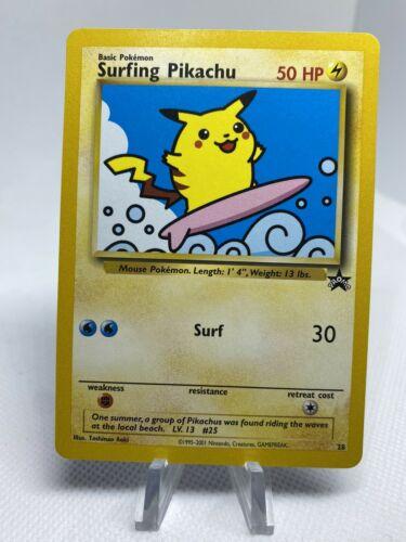 surfing pikachu Black Star promo Wotc 1999 NM Psa9?10?
