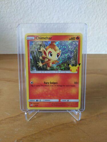 Pokemon McDonald's 25th Anniversary Chimchar 12/25 Holo Promo Card 2021 Hologram