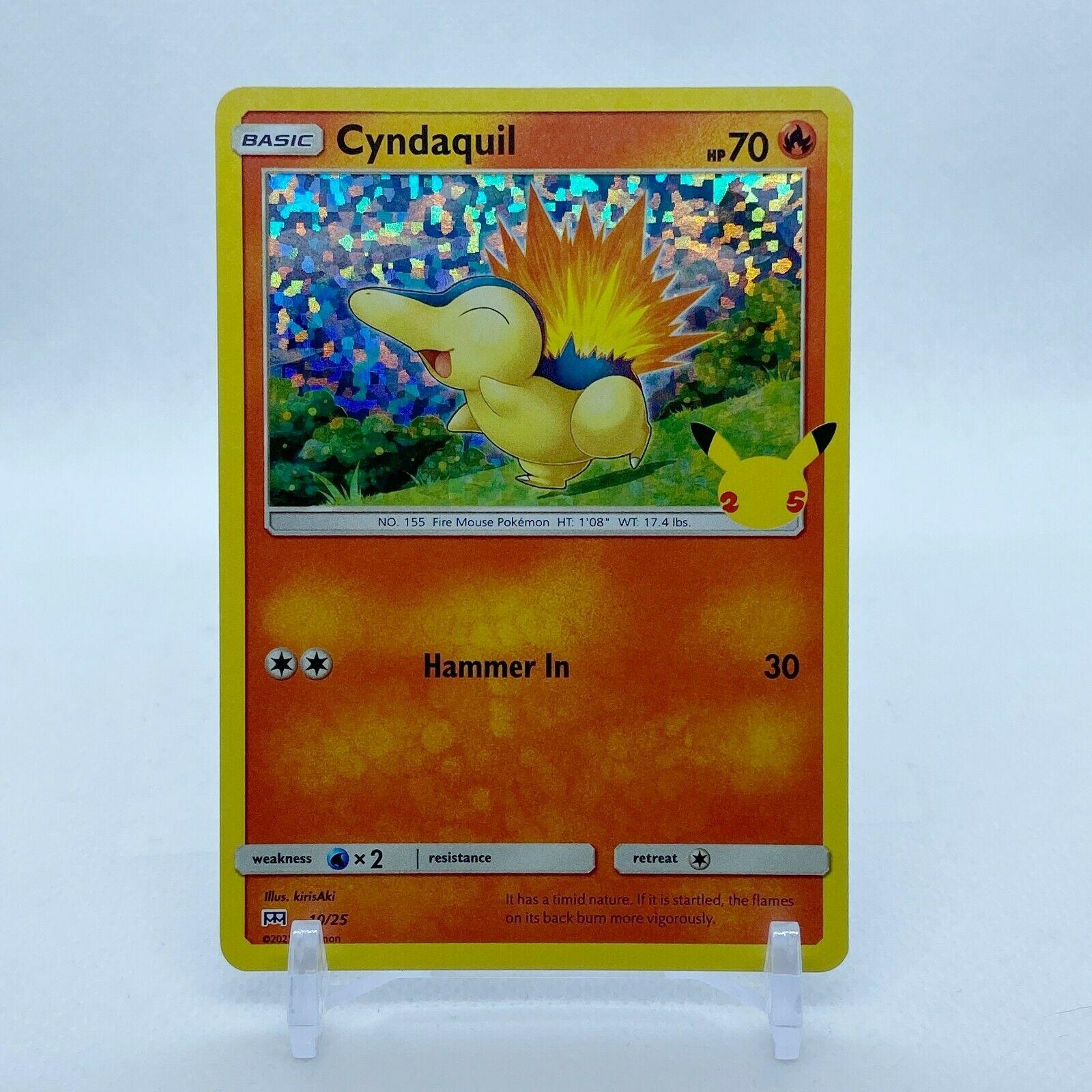 Cyndaquil - 10/25 Mcdonald's Promo 25th Anniversary Holo Starter Pokemon - MINT