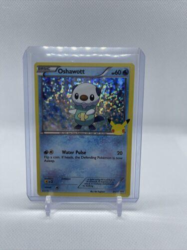 Oshawott 21/25 Holo Pokemon Card McDonald's 25th Anniversary Stamped Promo 2021