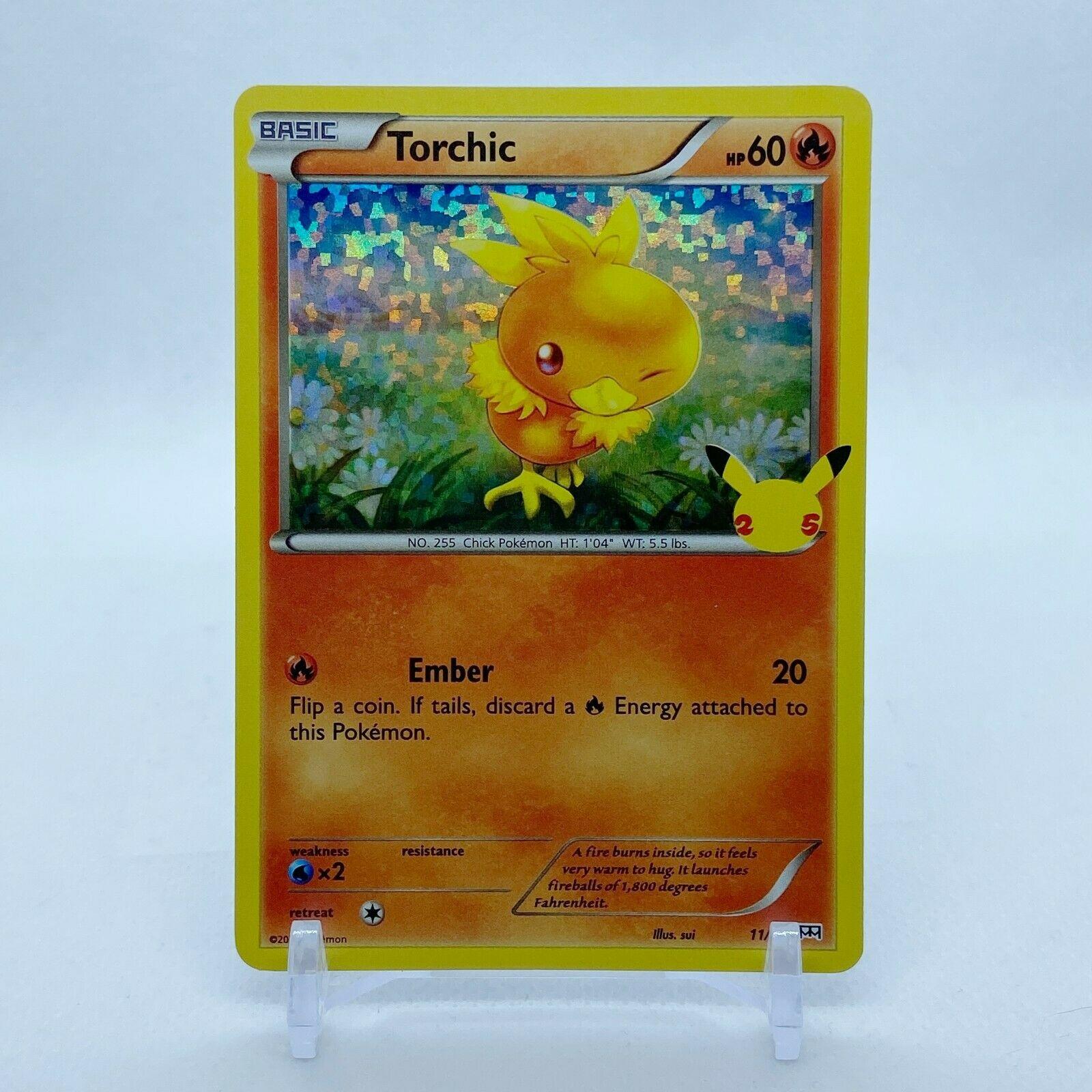 Torchic - 11/25 Mcdonald's Promo 25th Anniversary Holo Starter Pokemon - NM/MINT