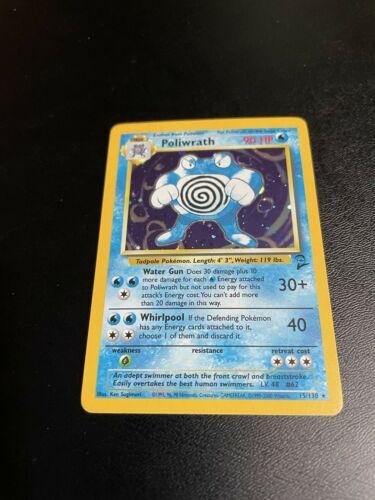 Poliwrath 15//130 NM Near Mint Base Set 2 Holofoil Rare Holo Pokemon Card