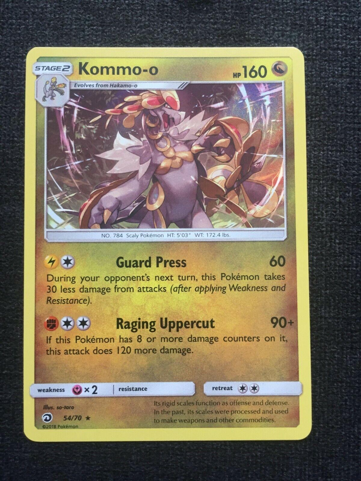 Pokemon Kommo-o Holo 54/70 - Rare - SM Dragon Majesty - NM