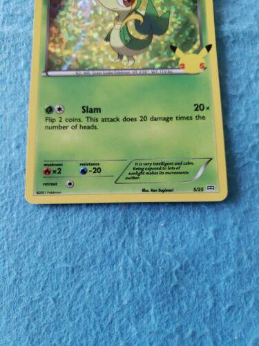 2021 Pokemon McDonald's 25th Anniversary Snivy Holo Card 5/25 Nintendo - Image 3
