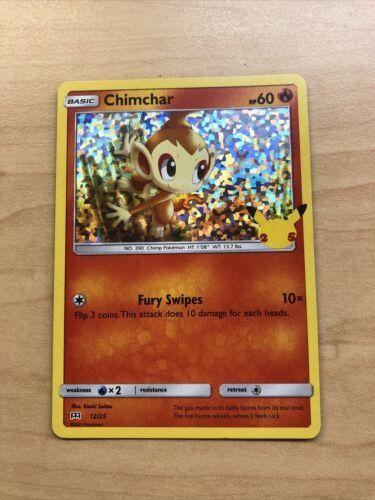 Mcdonald's Pokemon 25th Anniversary Chimchar Holo Card 12/25 2021