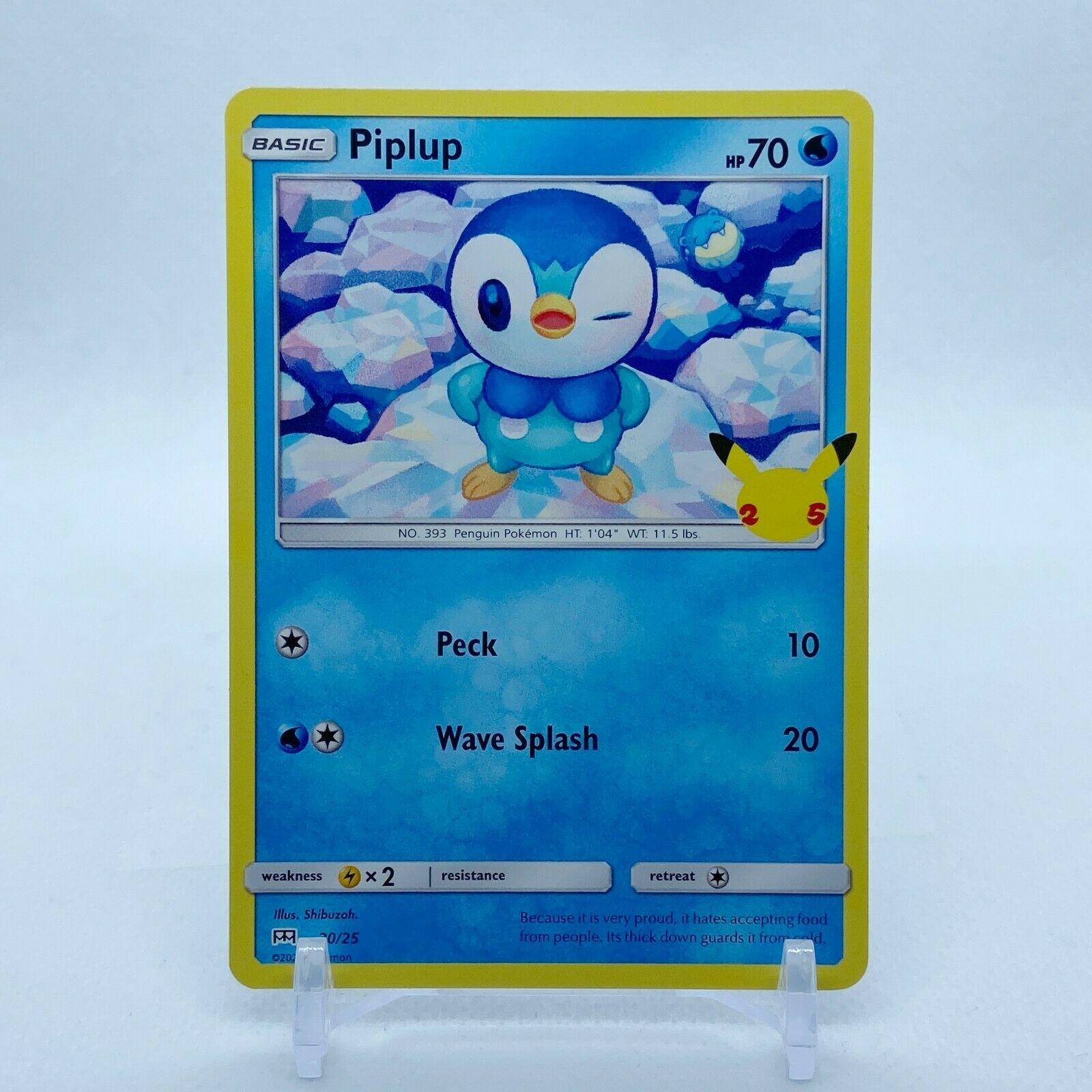 Piplup - 20/25 Mcdonald's Promo 25th Anniversary Starter Pokemon - NM/MINT