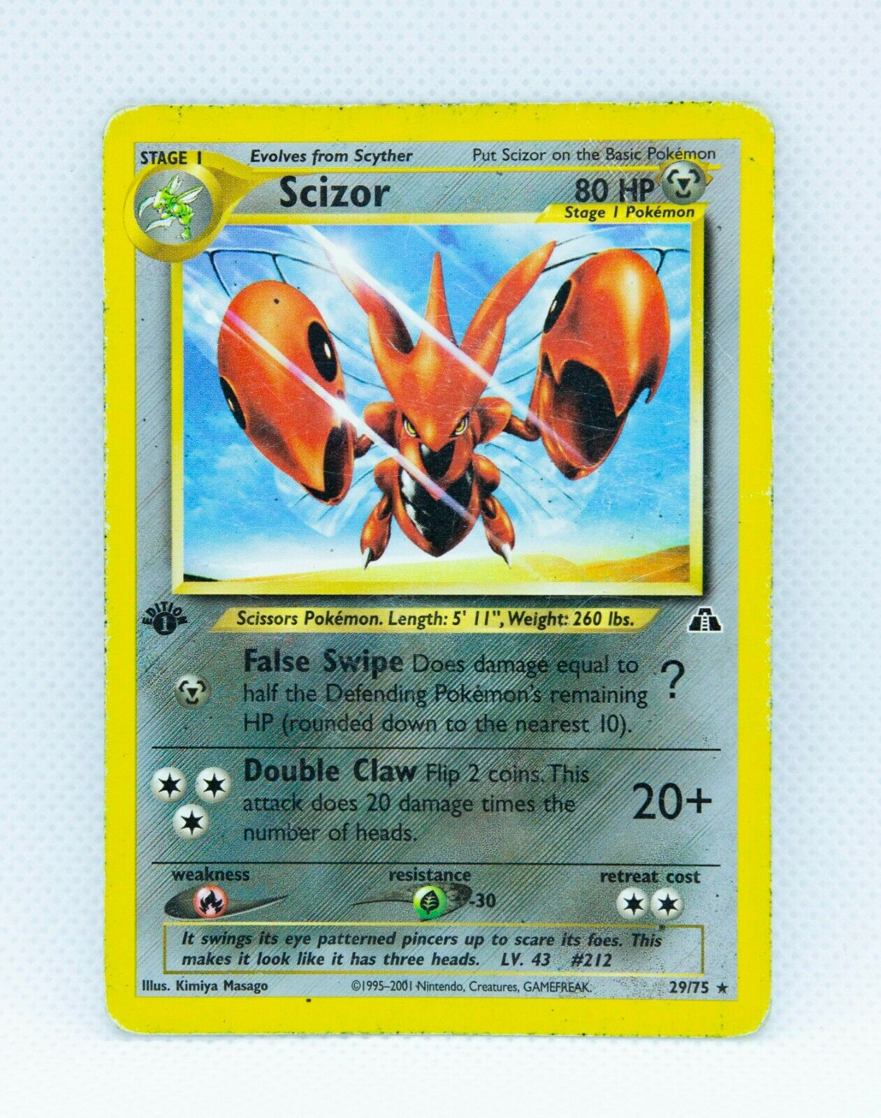 SCIZOR 29/75 1st Edition Rare Neo Discovery Set - Pokemon Card WOTC - Image 1