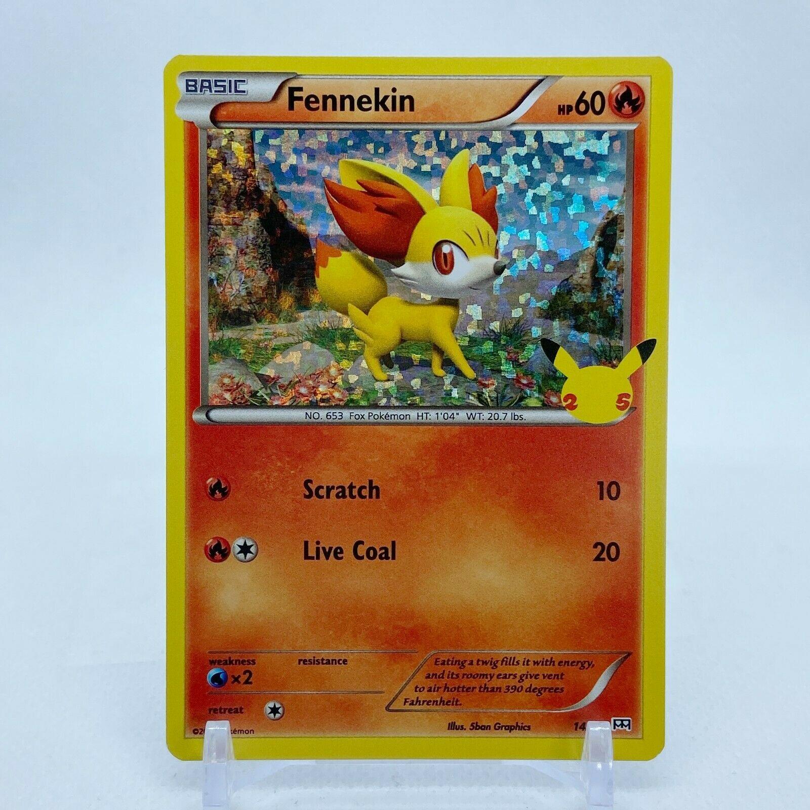Fennekin - 14/25 Mcdonald's Promo 25th Anniversary Holo Starter Pokemon- NM/MINT