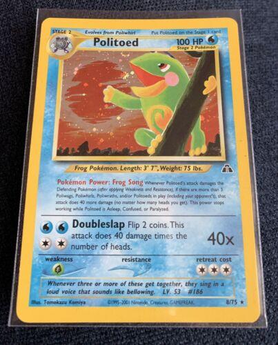 Politoed Holo Rare 8/75 | Neo Discovery Pokémon Card Near MINT - Image 1